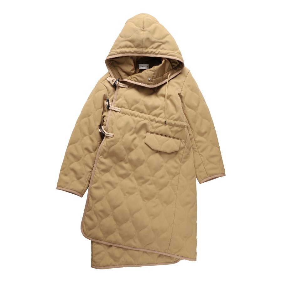 【21AW先行予約】BELPER  QUILTING DUFFLE COAT(BEIGE)※9月入荷予定予約品(4月23日 23:59 締め切り)<img class='new_mark_img2' src='https://img.shop-pro.jp/img/new/icons15.gif' style='border:none;display:inline;margin:0px;padding:0px;width:auto;' />