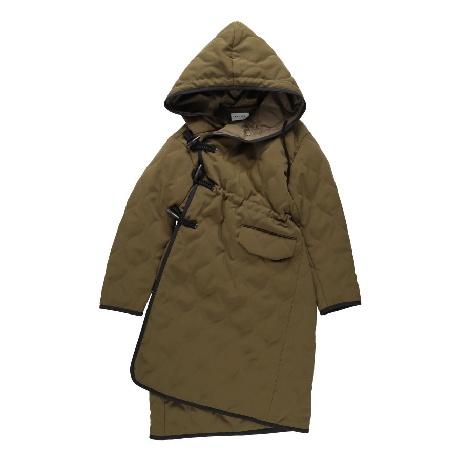 【21AW先行予約】BELPER  QUILTING DUFFLE COAT(KHAKI)※9月入荷予定予約品(4月23日 23:59 締め切り)<img class='new_mark_img2' src='https://img.shop-pro.jp/img/new/icons15.gif' style='border:none;display:inline;margin:0px;padding:0px;width:auto;' />