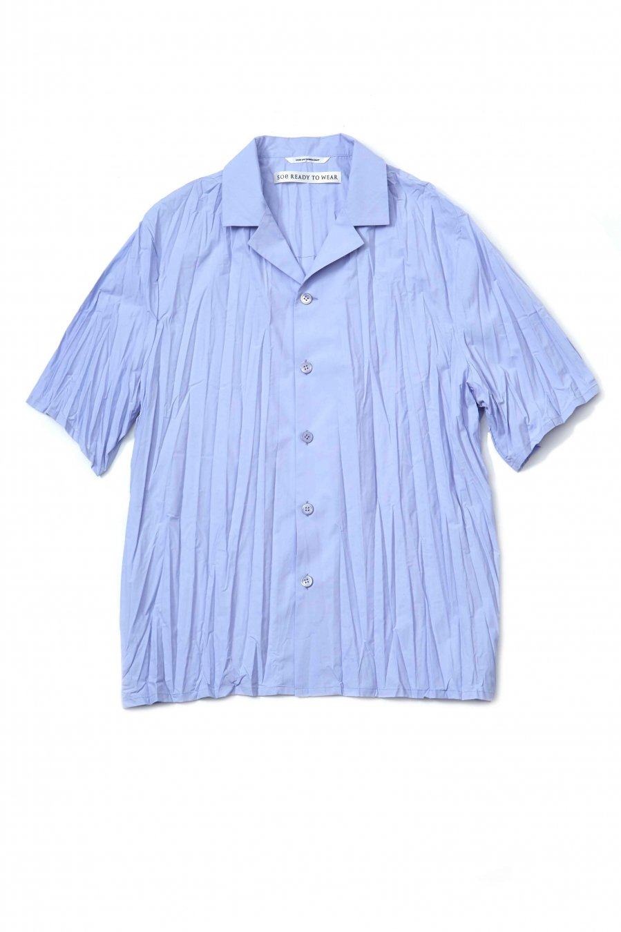 soe  Pleated H/S Shirt(SAX)<img class='new_mark_img2' src='https://img.shop-pro.jp/img/new/icons15.gif' style='border:none;display:inline;margin:0px;padding:0px;width:auto;' />