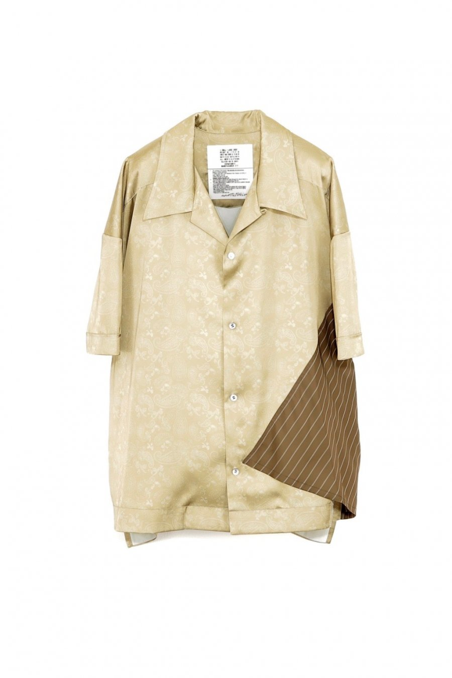 elephant TRIBAL fabrics  Out of alignment Resort shirt(BEIGE)<img class='new_mark_img2' src='https://img.shop-pro.jp/img/new/icons15.gif' style='border:none;display:inline;margin:0px;padding:0px;width:auto;' />