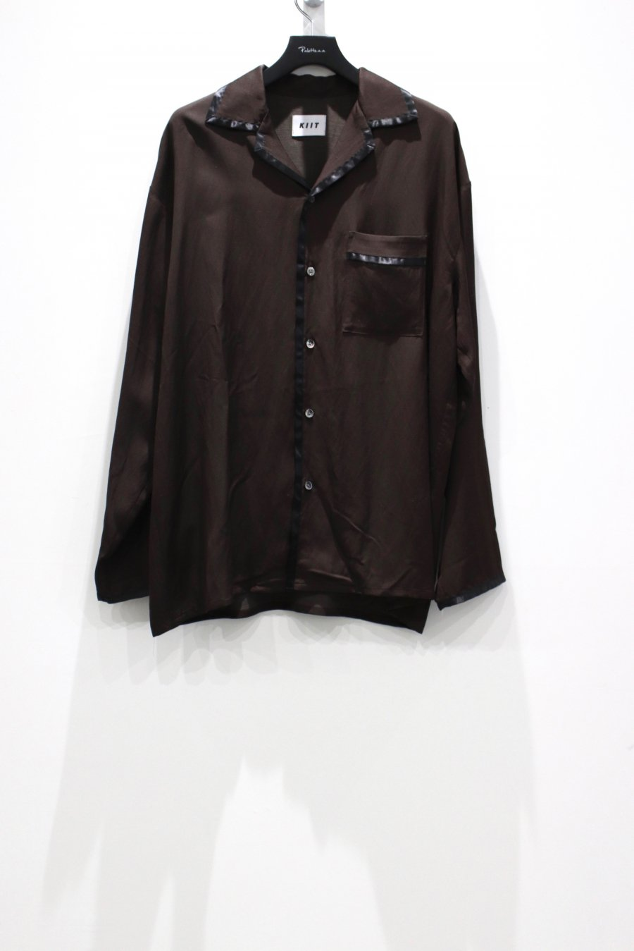 KIIT  TRICOTINE PAJAMA SHIRT(D.BROWN)<img class='new_mark_img2' src='https://img.shop-pro.jp/img/new/icons15.gif' style='border:none;display:inline;margin:0px;padding:0px;width:auto;' />
