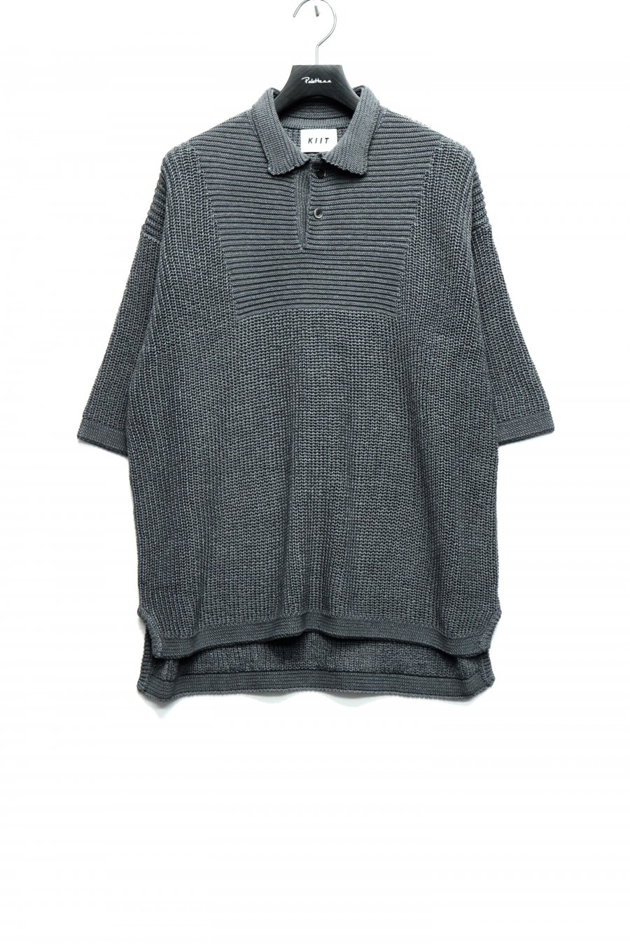 KIIT  OVERSIZED S/S KNIT POLO<img class='new_mark_img2' src='https://img.shop-pro.jp/img/new/icons15.gif' style='border:none;display:inline;margin:0px;padding:0px;width:auto;' />