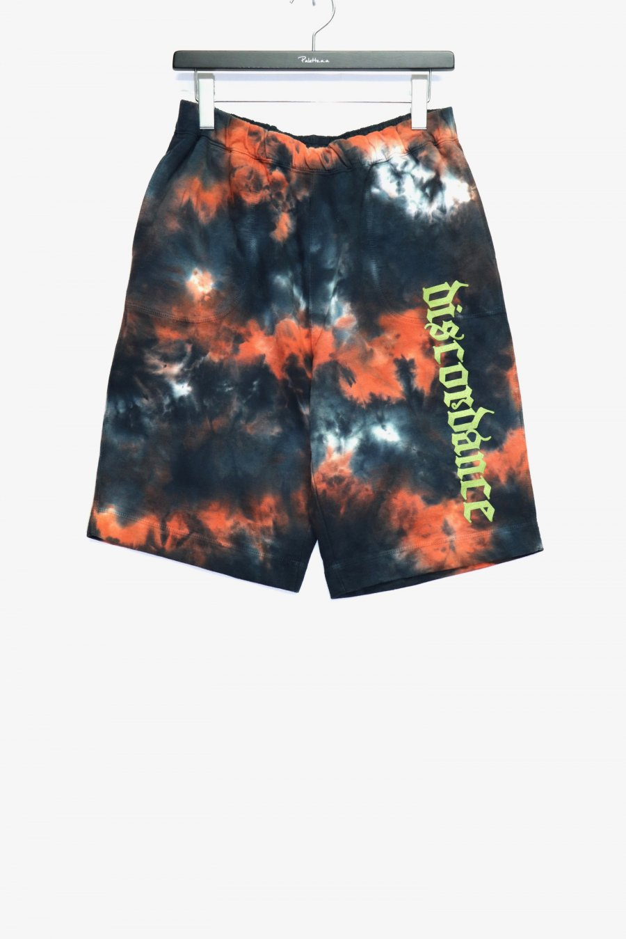 Children of the discordance  HAND DYEING & LOGO PRINT SHORTS(FIRE)<img class='new_mark_img2' src='https://img.shop-pro.jp/img/new/icons15.gif' style='border:none;display:inline;margin:0px;padding:0px;width:auto;' />