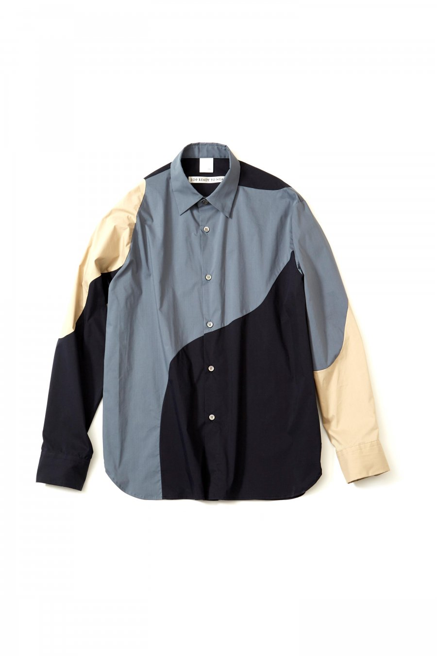 soe  3CC Shirt Collaborated With Pre_ (GRAY/NAVY/BEIGE)<img class='new_mark_img2' src='https://img.shop-pro.jp/img/new/icons15.gif' style='border:none;display:inline;margin:0px;padding:0px;width:auto;' />