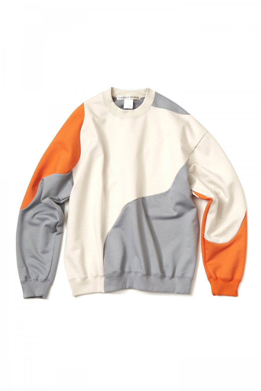 soe  3CC Sweat Shirt Collaborated With Pre_  (WHITE/SAX/ORANGE)<img class='new_mark_img2' src='https://img.shop-pro.jp/img/new/icons15.gif' style='border:none;display:inline;margin:0px;padding:0px;width:auto;' />