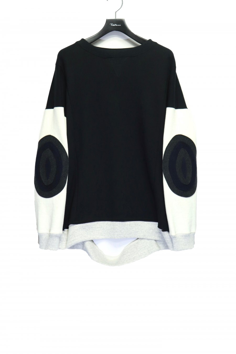 LEH  Patchwork Sweat Trainer(BLACK)<img class='new_mark_img2' src='https://img.shop-pro.jp/img/new/icons15.gif' style='border:none;display:inline;margin:0px;padding:0px;width:auto;' />