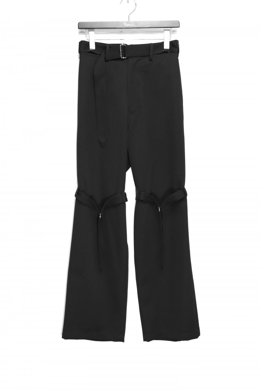 JOHN MASON SMITH  WOOL SATIN FRENCH ARMY OVERPANTS(BLACK)<img class='new_mark_img2' src='https://img.shop-pro.jp/img/new/icons15.gif' style='border:none;display:inline;margin:0px;padding:0px;width:auto;' />