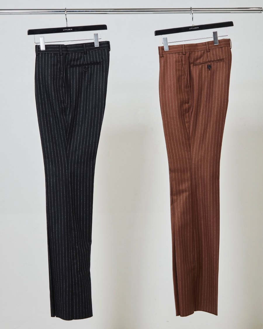LITTLEBIG  Tucked Flare Trousers(Black or Brown)<img class='new_mark_img2' src='https://img.shop-pro.jp/img/new/icons15.gif' style='border:none;display:inline;margin:0px;padding:0px;width:auto;' />