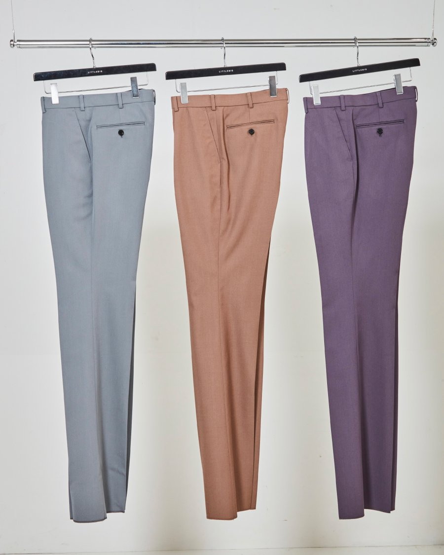 LITTLEBIG  Tucked Flare Trousers(Grey or Purple)<img class='new_mark_img2' src='https://img.shop-pro.jp/img/new/icons15.gif' style='border:none;display:inline;margin:0px;padding:0px;width:auto;' />