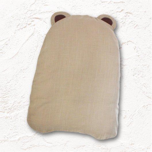 BABAラボの抱っこふとん カフェオレ色 (中布団とくまさん型カバー1枚)