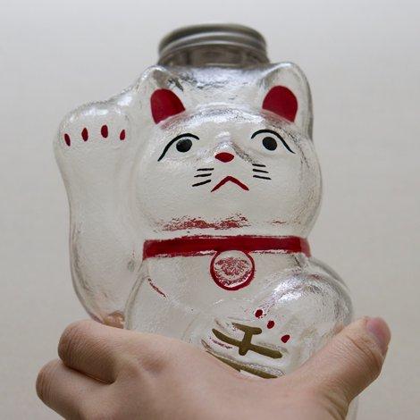 招き猫 菓子びん 小