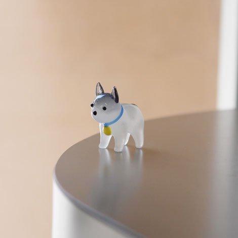 子犬 置物 灰色
