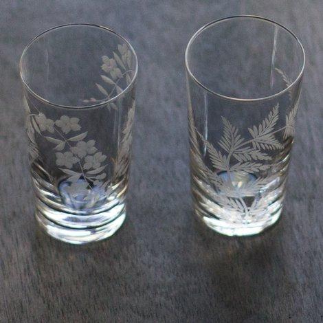 潤 しだれ桜&シダ切子 5オンスタンブラー ペアセット
