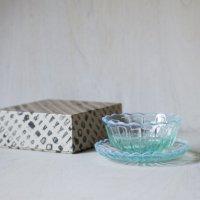 雪の花 洗鉢&デザートトレー ブルー セット