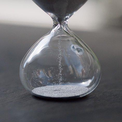 砂時計 2分 銀メッキ
