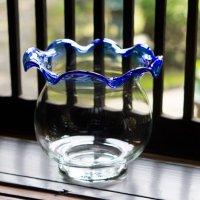金魚鉢 青