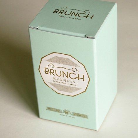 東京復刻ガラス BRUNCH 格子 10オンスタンブラー