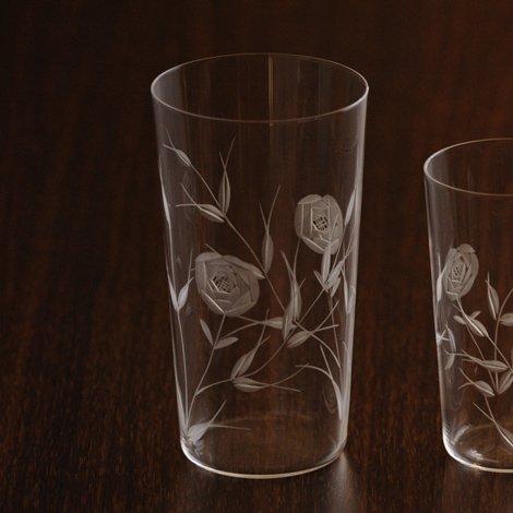 東京復刻ガラス BRUNCH 薔薇 10オンスタンブラー