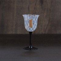 大正浪漫 ワイングラス 水玉黒