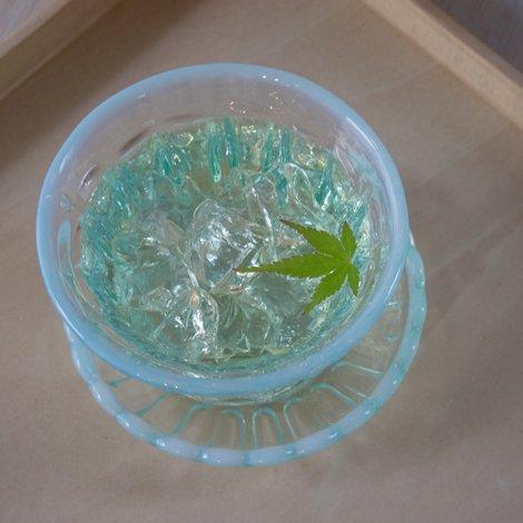 雪の花 冷茶 ブルー