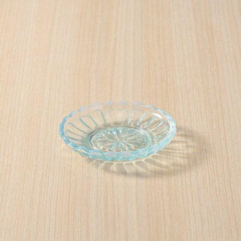 雪の花 豆皿 ブルー