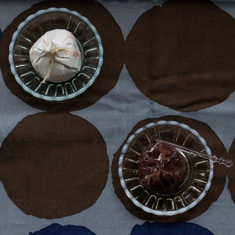 雪の花 豆皿 古代色