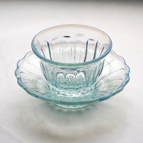 雪の花 氷鉢・冷茶セット ブルー 化粧箱入り