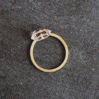 【NO.428×LT】Brass Ring ハーキマークォーツ