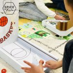 SPICE OF LIFE FESTA HOME ミニバスケットボールゲーム インドアやアウトドアで遊べるレトロなテーブルゲー