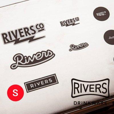 RIVERS リバーズ ステッカー リバーズ(S/RS)【シール かわいい 可愛い おしゃれ かっこいい ブランド アウトドア】