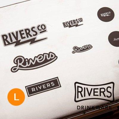 RIVERS リバーズ ステッカー リバーズ(L/ボックス)【シール かわいい 可愛い おしゃれ かっこいい ブランド アウトドア】
