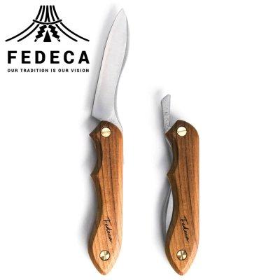 FEDECA(フェデカ) 折畳式料理ナイフ ビルマチーク (ステンレス鋼/銀紙三号)
