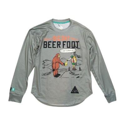 STAMP RUN&CO(スタンプ ランアンドコー) STAMP LONG SLEEVE TEE (BEER FOOT) ドライ長袖Tシャツ