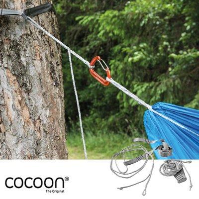 COCOON コクーン ハンモックストラップウルトラライト グレー 12550065【ロープ ウーピースリング 設営 簡単調整 軽量 コンパクト キャンプ用品 アウトドア】