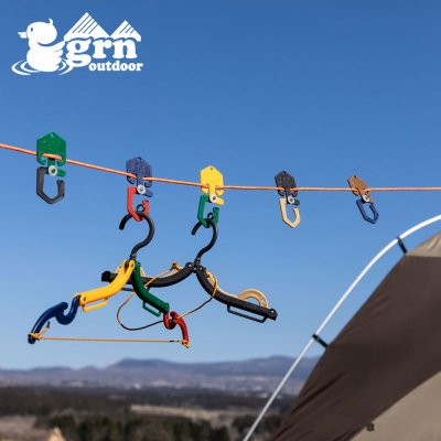 grn ジーアールエヌ GOOD LUCK HOOK ハンガー GO0481F【ハンガー フック ロープ コンパクト 軽量 持ち運び便利 旅行 キャンプ用品 outdoor アウトドア】