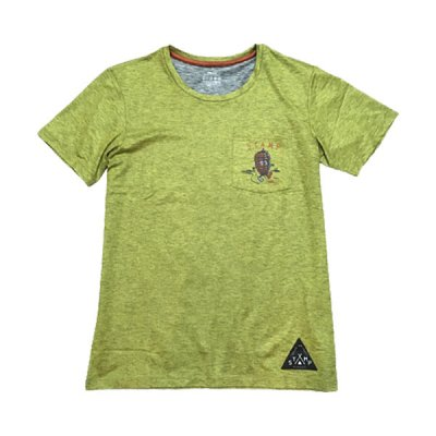 STAMP RUN&CO(スタンプ ランアンドコー) STAMP DAILY POCKET TEE (Pinecone Boy) メンズ・レディース ドライ半袖Tシャツ