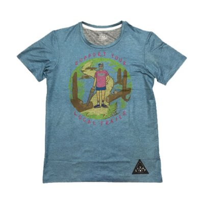 STAMP RUN&CO(スタンプ ランアンドコー) STAMP DAILY TEE(Support Your Local Trails) メンズ・レディース ドライ半袖Tシャツ
