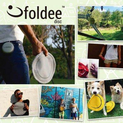 Foldee disc いつでもどこでも楽しめる新感覚 フライングディスク【子供 キッズ フリスビー おもちゃ 雑貨 コンパクト 軽量 キャンプ用品 アウトドア TRYL】
