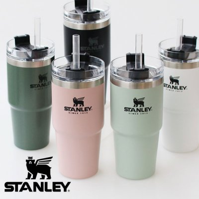 STANLEY スタンレー 真空スリムクエンチャー 0.47L(ストロー付き) 09871【マグカップ タンブラー 保温 保冷 ふた付き 蓋付き コーヒー コップ キャンプ用品 かわいい おしゃれ】