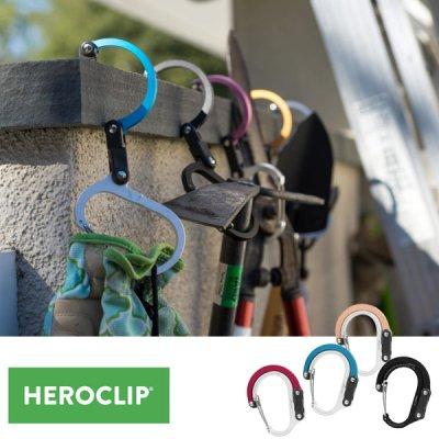 HEROCLIP ヒーロークリップ HEROCLIP  Small カラビナ型フック【リール ハンガー S字フック 回転 キーホルダー 頑丈 おしゃれ キャンプ用品 アウトドアギア】