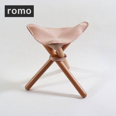 ROMO ロモ sansa chair(ヌメ革) R-550613【アウトドアチェア イス 椅子 折りたたみ コンパクト 軽量 軽い 焚き火 登山 BBQ 釣り キャンプ用品 ソロキャンプ】