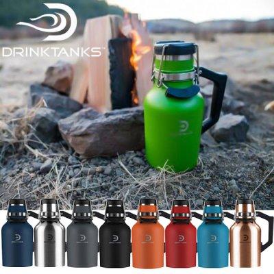 DrinkTanks ドリンクタンクス 32oz(0.94L) Growler2.0【真空断熱 グラウラー 水筒 マイボトル ステンレス 保温 保冷 ビール 炭酸 BBQ キャンプ アウトドア】