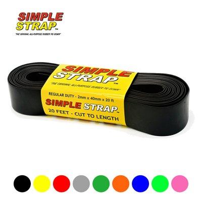 シンプルストラップ レギュラー Simple Strap RegularDuty(2mm) タイダウンベルト【ラチェット 荷締めベルト ゴム バンド】