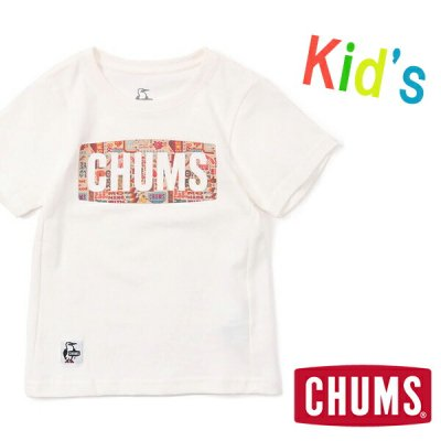 CHUMS チャムス Kid's CHUMS Logo Power of Love T-Shirt キッズチャムスロゴパワーオブラブTシャツ