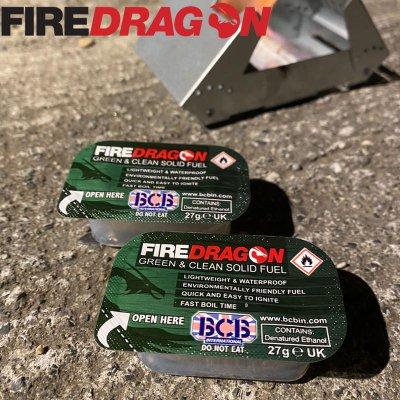 FireDragon ファイヤードラゴン Fuel Blocks/固形燃料12個セット【BBQ ソロキャンプ アウトドア BCB international】