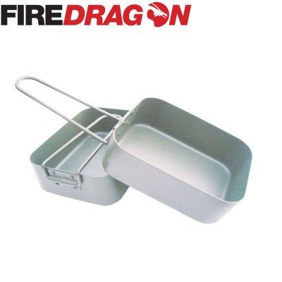 FireDragon ファイヤードラゴン Mess Tin/飯盒 2個セット【BBQ ソロキャンプ アウトドア BCB international】