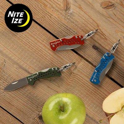 NITE-IZE ナイトアイズ DOOHICKEY KEY CHAIN KNIFE(ドゥーヒッキーキーチェーンナイフ) カラビナ付きフォールディングナイフ【BBQ ソロキャンプ アウトドア】