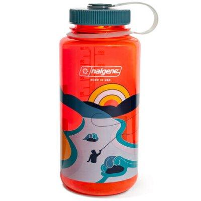 NALGENE ナルゲン 広口 1.0L Retro Print ポムグラネイト【ウォーターボトル 給水ボトル 水筒 ボトルマグ BBQ ソロキャンプ アウトドア】