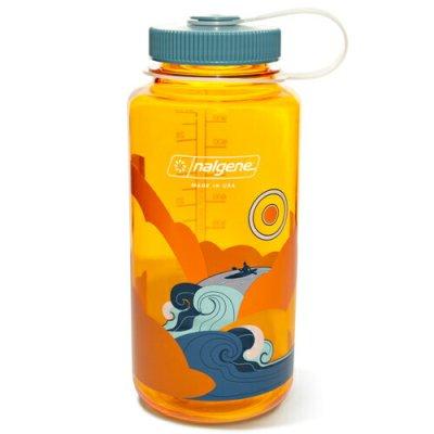 NALGENE ナルゲン 広口 1.0L Retro Print クレメンタイン【ウォーターボトル 給水ボトル 水筒 ボトルマグ BBQ ソロキャンプ アウトドア】