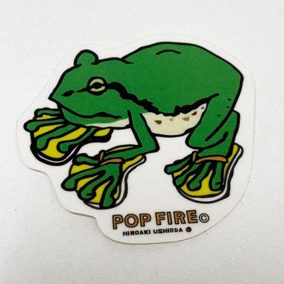 POPFIRE ポップファイヤー アウトドアステッカー ウシオダ ヒロアキ PS0010【シール かわいい 可愛い おしゃれ かっこいい ブランド アウトドア】